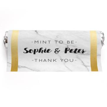 Mint To Be Huwelijksbedankje Marble & Gold