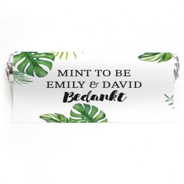 Mint To Be Huwelijksbedankje Botanical