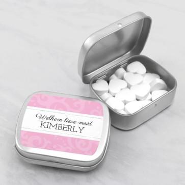 Sweet Tin Geboortebedankjes Classic Baby Roze
