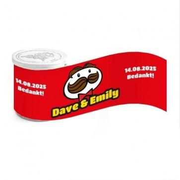 Mini Pringles huwelijksbedankje Pringles