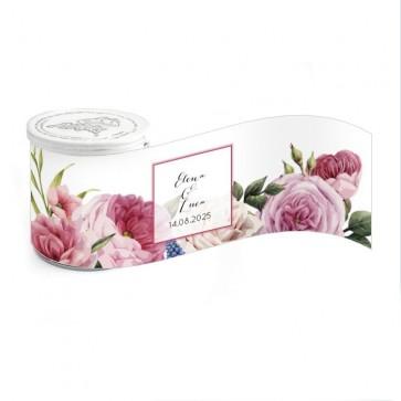 Mini Pringles huwelijksbedankje Watercolour Roses