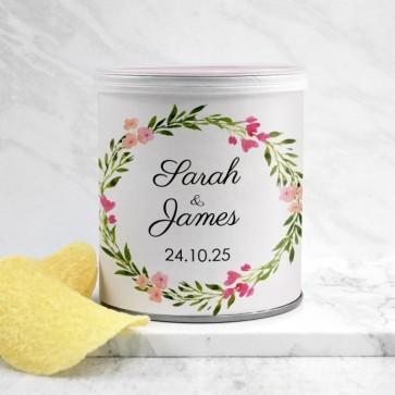 Mini Pringles huwelijksbedankje Bohemian Flowers