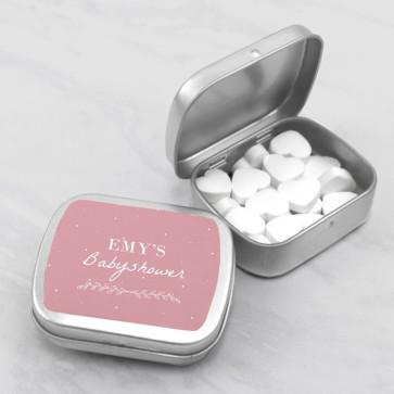 Sweet Tin Geboortebedankjes Dreaming Roze