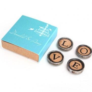 Typewriter Magnets huwelijksbedankjes LoveBirds