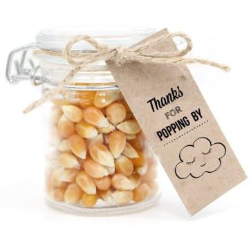 Weckpotje met Popcorn Communie bedankje Cloud