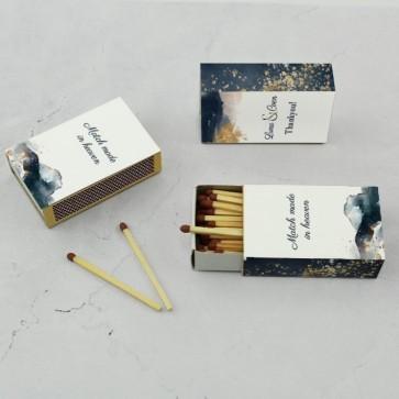 Wedding Matches Huwelijksbedankje Gold Watercolour