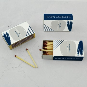 Wedding Matches luciferdoosjes huwelijksbedankje Minimal Blue