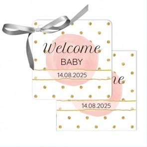 Gold & Pink Bedankkaartjes