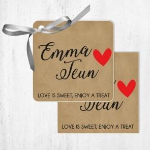 Bedankkaartjes huwelijksbedankjes Craft Heart