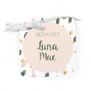 Bedankkaartje geboortebedankjes Blushed Roze