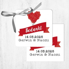 Bedankkaartjes huwelijksbedankjes Balloon