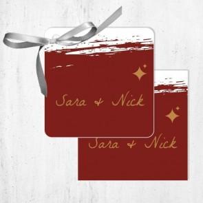 Bedankkaartjes huwelijksbedankje Bordeaux Paint