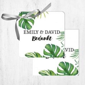 Bedankkaartjes Huwelijksbedankje Botanical