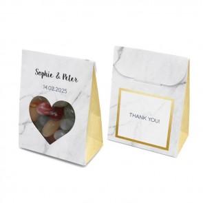 Bruiloftsdoosje huwelijksbedankje - Marble & Gold