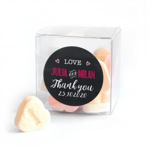 Candy Cube huwelijksbedankje Chalk