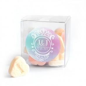Candy Cube huwelijksbedankje Colourful Splash