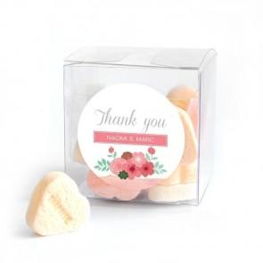 Candy Cube huwelijksbedankje Pastel Flowers