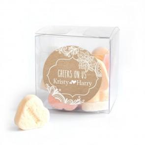 Candy Cube huwelijksbedankje Vintage Lace