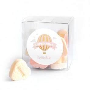 Candy Cube communiebedankje Pink Balloon