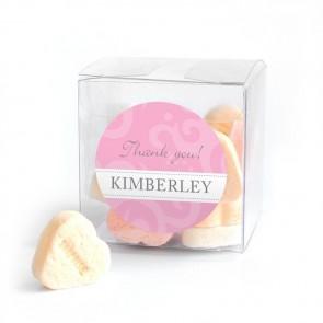 Candy Cube Geboortebedankje Classic Baby Roze