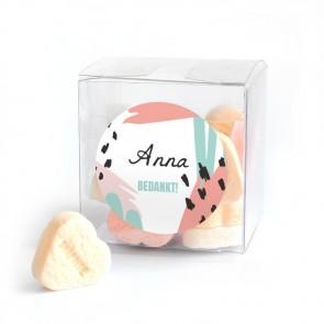 Candy Cube geboortebedankje Memvis