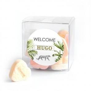 Candy Cube geboortebedankje Safari Animals