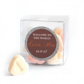 Candy Cube Geboortebedankje Dotted World