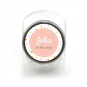 Candy Jar Babyshower Bedankje Pink Perfect