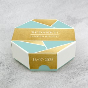 Celebrations doosje huwelijksbedankje - Gold Foil