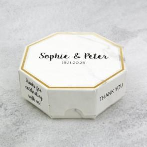 Celebrations doosje huwelijksbedankje - Marble & Gold