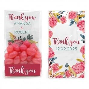 Clear Sweet Bag Huwelijksbedankje Bouquet