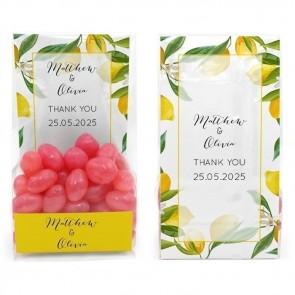 Clear Sweet Bag Huwelijksbedankje Lemon