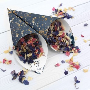 Gold Watercolour Confetti Cone