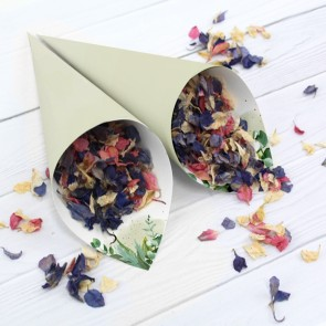 A Touch Of Gold Confetti Cone