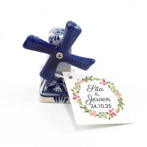 Delfts Blauwe Bedankjes Huwelijk Bedankje Bohemian Flowers