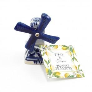 Delfts Blauwe Bedankjes huwelijksbedankjes Lemon