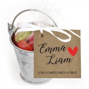 Emmer Snoep Huwelijksbedankje Craft Heart