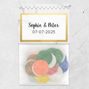 Flowerbags Huwelijksbedankjes Marble & Gold