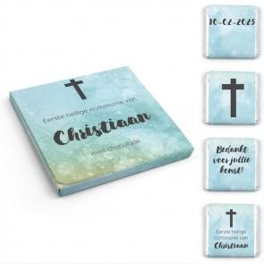 Watercolour Cross Foto Chocolade