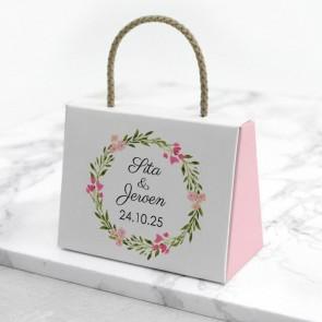 Bedankje Bruiloft Gepersonaliseerd Tasje - Bohemian Flowers