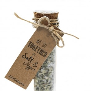 Herbal Gift Tubes huwelijksbedankjes Salt & Pepper