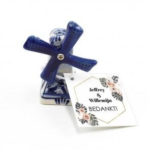 Delfts Blauwe Bedankjes huwelijksbedankjes Botanical Geo