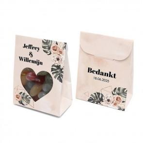 Bruiloftsdoosje huwelijksbedankje - Botanical Geo