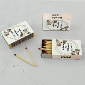 Wedding Matches luciferdoosjes huwelijksbedankjes Botanical Geo
