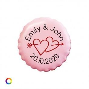 Bedrukte Likkoekjes huwelijksbedankjes Arrow Hearts