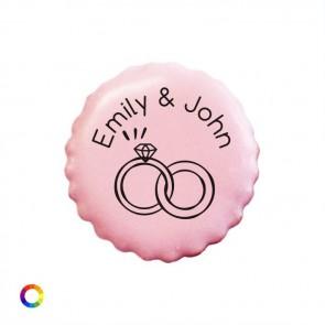Bedrukte Likkoekjes huwelijksbedankjes Rings