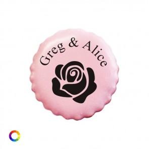 Bedrukte Likkoekjes huwelijksbedankjes Rose