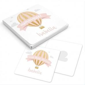 Memory Spel communiebedankje Pink Balloon