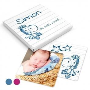 Memory Spel Geboortebedankje Doodle Blauw
