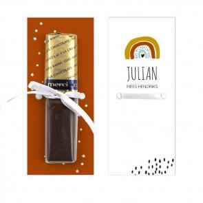Merci Chocolaatje Geboortebedankje Regenboog